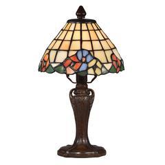 "Springdale 13""H Basking Floral Tiffany Accent Lamp"