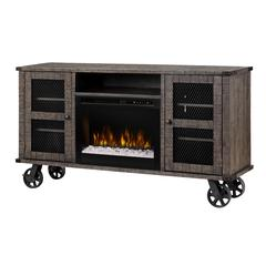 Duncan Media Console Electric Fireplace With Logs