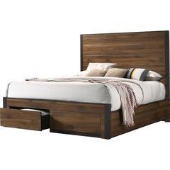 Brown Queen Bed