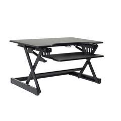 "EADR II Height Adjustable Sit To Standing Desk Riser and Converter, 32"", Black"