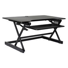 "DADR-40 Height Adjustable Sit to Standing Desk Riser and Converter 40"", Black"