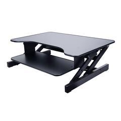 "ADR II Height Adjustable Sit to Standing Desk Riser and Converter, 32"", Black"