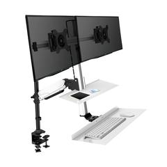 Rocelco Ergonomic Floating Desk with Monitor Arm & Tray