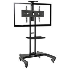 """Standard Flat Panel TV and AV Cart, 32"""" - 70"""", Black"""