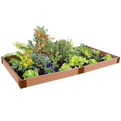 "Tool-Free Classic Sienna Raised Garden Bed 4' x 8' x 5.5"" – 1"" profile"