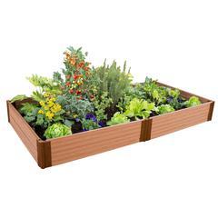 "Tool-Free Classic Sienna Raised Garden Bed 4' x 8' x 11"" – 1"" profile"