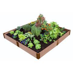 "Tool-Free Classic Sienna Raised Garden Bed 8' x 8' x 11"" – 1"" profile"