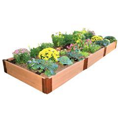"Tool-Free Classic Sienna Raised Garden Bed 4' x 12' x 11"" – 2"" profile"