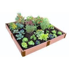 "Tool-Free Classic Sienna Raised Garden Bed  8' x 8' x 11"" - 2"" profile"