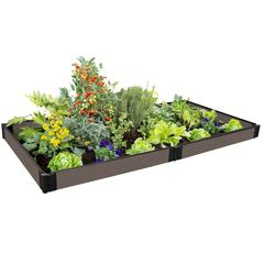 """Tool-Free Weathered Wood Raised Garden Bed 4' x 8' x 5.5"""" – 1"""" profile"""