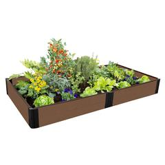 """Tool-Free Uptown Brown Raised Garden Bed 4' x 8' x 11"""" – 1"""" profile"""