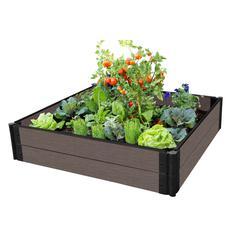 "Tool-Free Classic Sienna Raised Garden Bed Garden Star 12' x 12' x 11"" – 1"" profile"