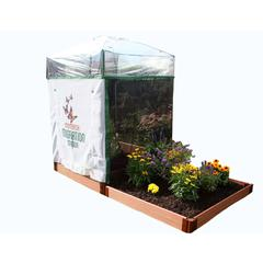 """Tool-Free Classic Sienna 4' x 8' Pro Butterfly Pollinator - 1"""" profile"""