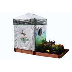 "Tool-Free Classic Sienna 4' x 8' Backyard Butterfly Pollinator - 1"" profile"