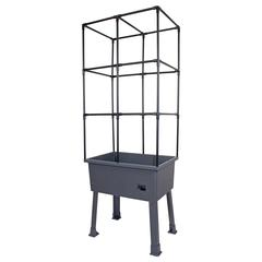 """Patio Ideas - 15.75"""" x 23.5"""" x 63"""" Self-Watering Elevated Planter with Trellis Frame and Greenhouse Cover"""