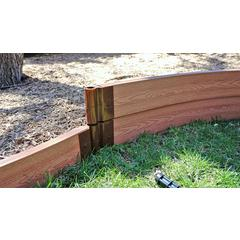 """Tool-Free Classic Sienna Curved Playground Border 16' – 2"""" profile"""