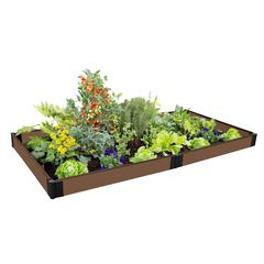 """Tool-Free Uptown Brown Raised Garden Bed 4' x 8' x 5.5"""" – 1"""" profile"""