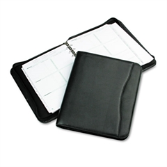 Day-Timer Avalon Simulated Leather Starter Set, 8 1/2 x 11, Black