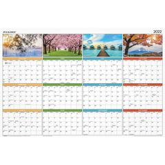 """At-A-Glance Seasons in Bloom Erasable/Reversible Wall Planner - 1 Year - January 2020 till December 2020 - 36"""" x 24"""" - Wall Mountable - Assorted - Erasable, Reversible, Four-Color Photos for Each Seas"""
