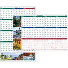 """House of Doolittle Earthscapes Scenic Wipe-off Wall Planner - Yes - Monthly - 1 Year - January 2020 till December 2020 - 32"""" x 48"""" - Wall Mountable - Assorted - Paper - Laminated, Erasable"""