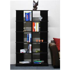 Concepts in Wood Corner Bookcases, 10 Shelves, Espresso Finish, 2pc