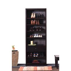 Concepts In Wood Shoe Rack with Drawer, Espresso Finish