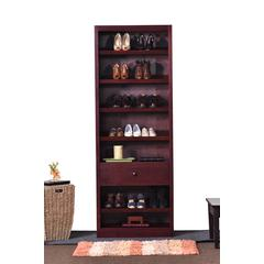 Concepts In Wood Shoe Rack with Drawer, Cherry Finish