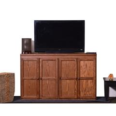 Concepts In Wood Multi Storage Unit TV Stand and Buffet, Dry Oak Finish