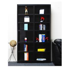 Concepts in Wood Double Wide Bookcase, 12 Shelves, Espresso Finish