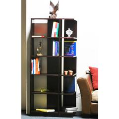 Concepts in Wood Corner Bookcases, 10 Shelves, Cherry Finish, 2pc