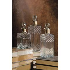 Hampshire Etched Decanters - Set of 3