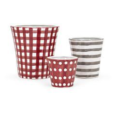 Trisha Yearwood Berry Patch Hand-painted Decorative Pots - Set of 3