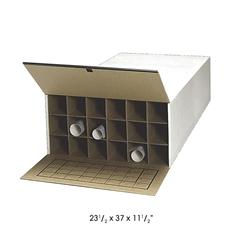 "37""D Tube-Stor KD Roll File, 18 Tube (Qty. 2) White"