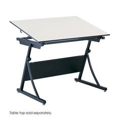 PlanMaster Height-Adjustable Drafting Table Black