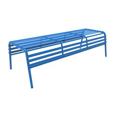 CoGo™ Steel Outdoor/Indoor Bench, Blue