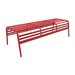 CoGo™ Steel Outdoor/Indoor Bench, Red