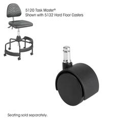 "Task Master® Hard Floor Casters, 2"" (Set of 5) Black"