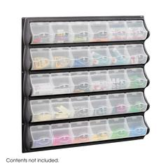 30 Pocket Panel Bins Black