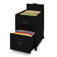 File with lid and drawer Mobilizer, Black