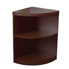 2 Shelf Quarter Round (1 fixed Shelf), Mocha