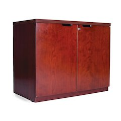 Hinged Door Credenza (2-Door Hinged Credenza), Cherry