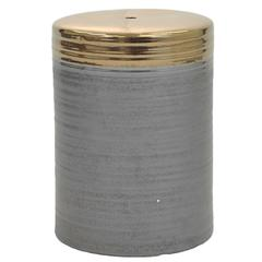 Swirl Ceramic Garden Stool, Gray/Gold