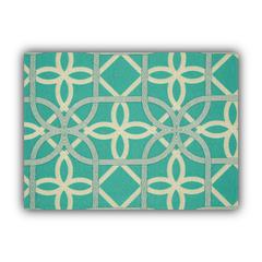 TRELLING Turquoise Indoor/Outdoor Placemats - Finished Edge (Set of 2)