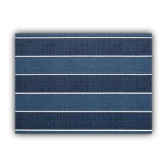 MADALENA STRIPE Navy Indoor/Outdoor Placemats - Finished Edge (Set of 2)