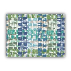 QUIBBLET Blue Indoor/Outdoor Placemats - Finished Edge (Set of 2)