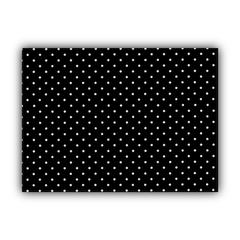 DINER DOT Black Indoor/Outdoor Placemats - Finished Edge (Set of 2)