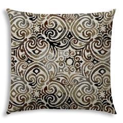 KOLKATA Black Jumbo -Zippered Pillow Cover with Insert