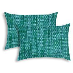 BOHO SEA Aqua Indoor/Outdoor Pillow - Sewn Closure (Set of 2)