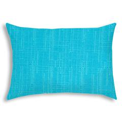 IRMA Turquoise Indoor/Outdoor Pillow - Sewn Closure