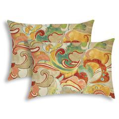 FLOURINA Yellow Indoor/Outdoor Pillow - Sewn Closure (Set of 2)